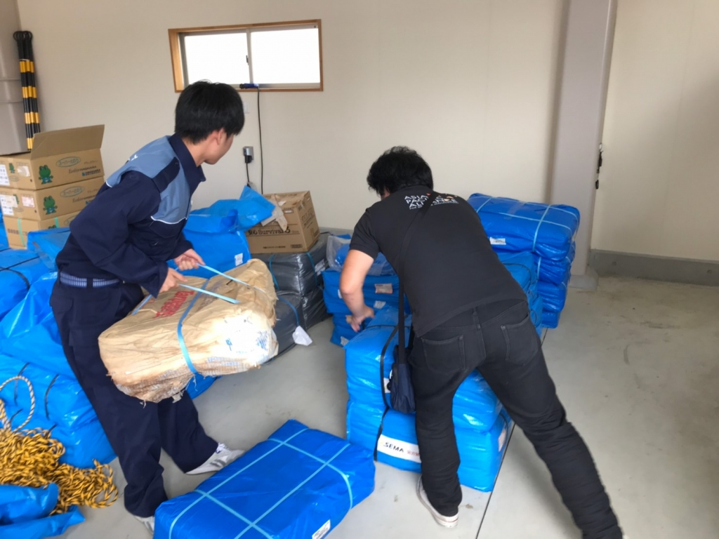 Delivered Tarps to Takeo City